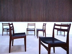Set-of-6-FREM-R-JLE-Leather-Dining-Chairs-TEAK-Danish-Modern-Leder-Stuhle-1960s