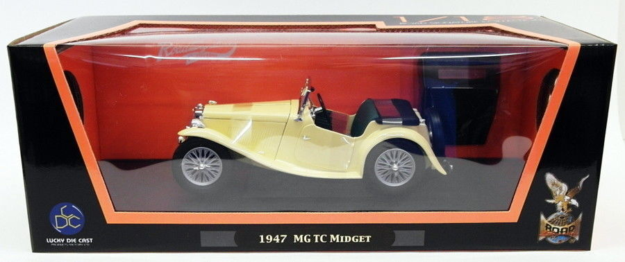 Road Signature Signature Signature 1 18 Scale Model Car 92468 - 1947 MG TC Midget - Cream 5f7cdc