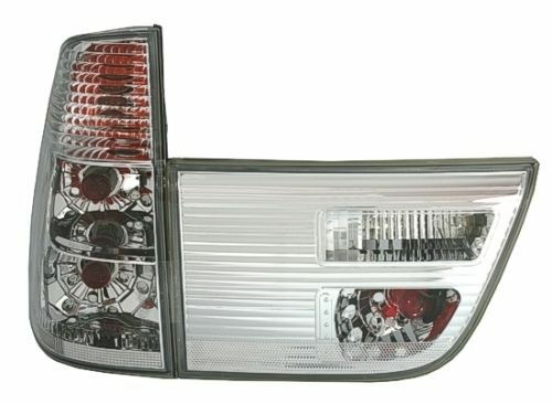 CLEAR CHROME LOOK REAR TAIL LIGHTS LAMPS FOR BMW X5 E53 1999-2003