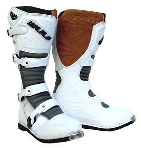 Details zu Wulfsport Super Boot LA Stiefel Enduro Motocross Offroad Quad Schuhe Gr. 45 Weiß