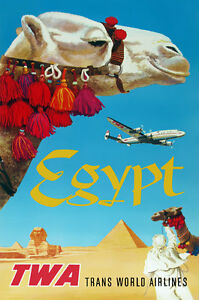TX168 Vintage Egypt Airline Airways Travel Tourism Art Poster Re-print A3
