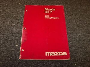 1979 Mazda RX7 Coupe Factory Original Electrical Wiring ...