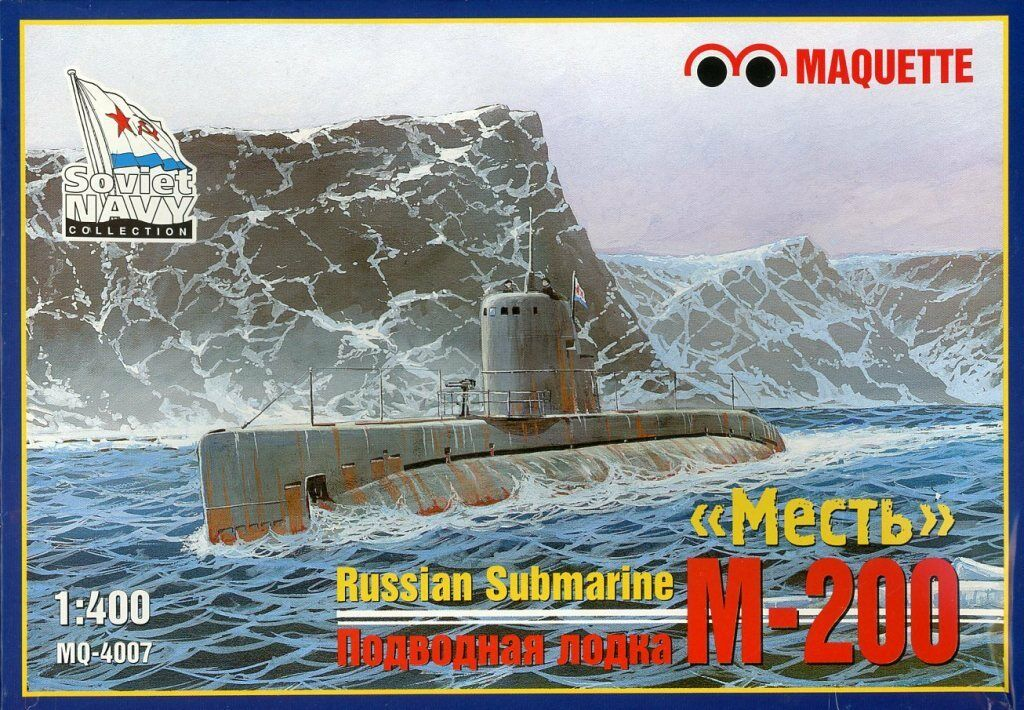 Maquette 1 400 Russian Submarine M-200 Plastic Model Kit  MQ4007