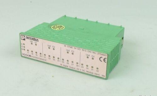 .tu542 Phoenix Contact Interbus IB STME 24 do 16//3 2754943 socket senza