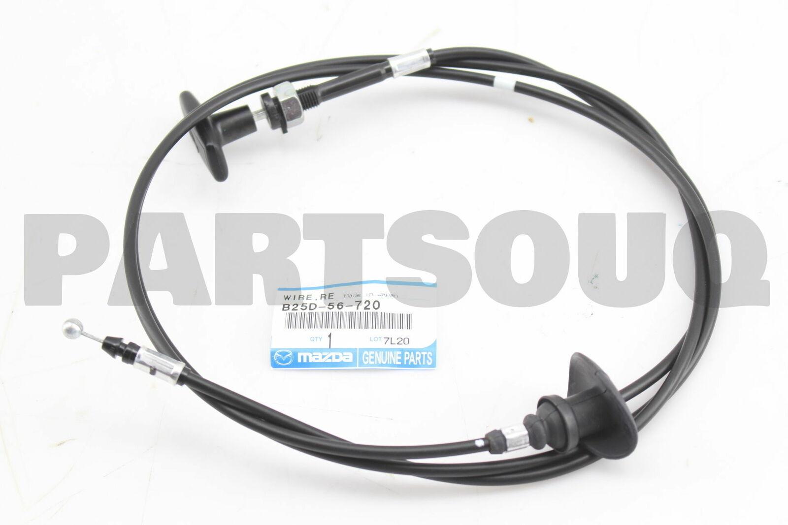 New Genuine OEM 2001-2009 Mazda 3 Wire Release-Bonnet BP4K-56-720C