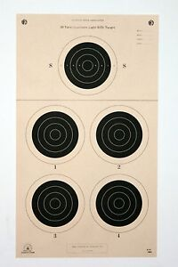Details about A-31 [A31] NRA Official 50 Yard Smallbore Light Rifle Target,  on Tagboard (22)