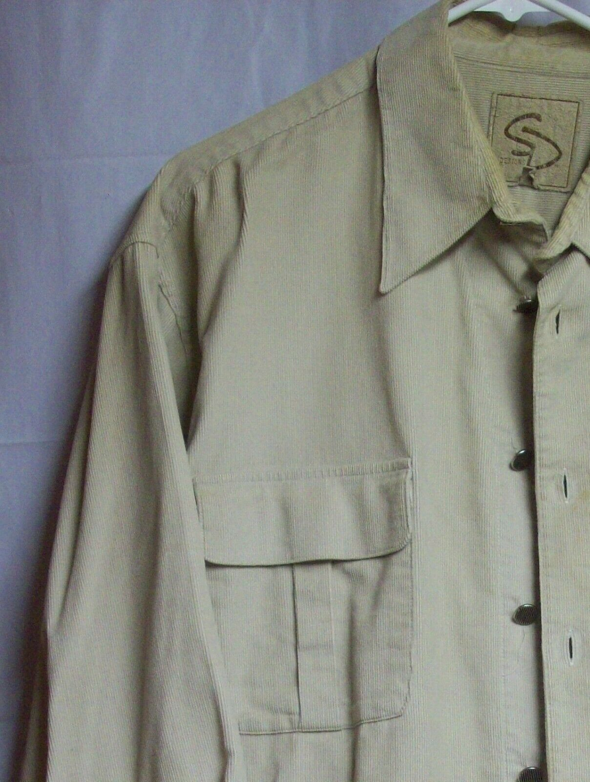 Vintage Mens Western Cotton Corduroy Overshirt XL… - image 7