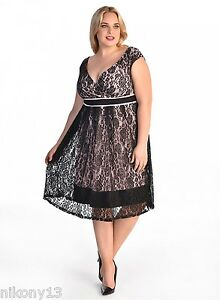 c146a2a7d92 Image is loading NWT-JESSICA-Plus-Size-IGIGI-Lace-Dress-in-