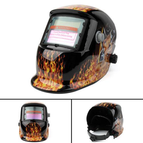 Solar Powered Auto-Darkening Welding Helmet Grinding TIG Welder Mask Hood T2