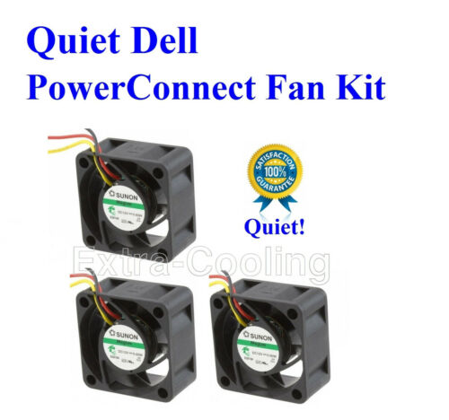 1x new Quiet Version fan for Dell PowerConnect 6224 18dBA Noise TK308, RN856