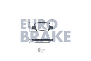 Bremsbelagsatz Scheibenbremse Eurobrake 5502223348