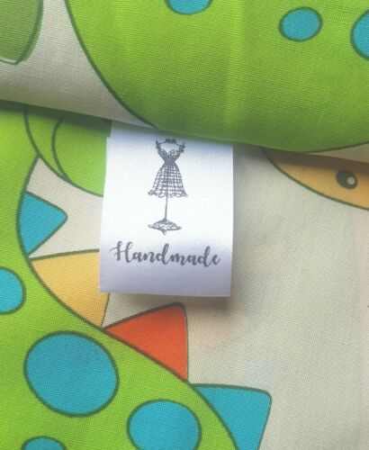 Handmade sewing labels craft labels satin garment labels