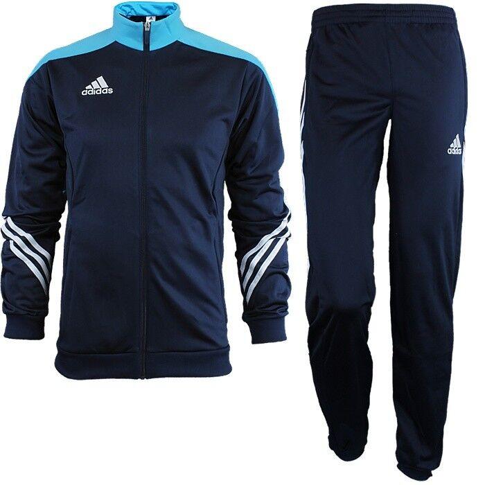 Adidas Sereno 14 Traje  de seguimiento de hombre azul blancoo Jogging Entrenamiento Deportivo Nuevo  barato en línea