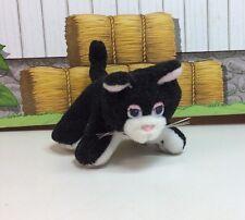 "Galoob Pound Puppies Purries Purry Cat 3"" Tiny Mini Baby Kitten Black Tuxedo 2"