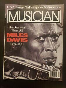 musician magazine December 1991 miles davis