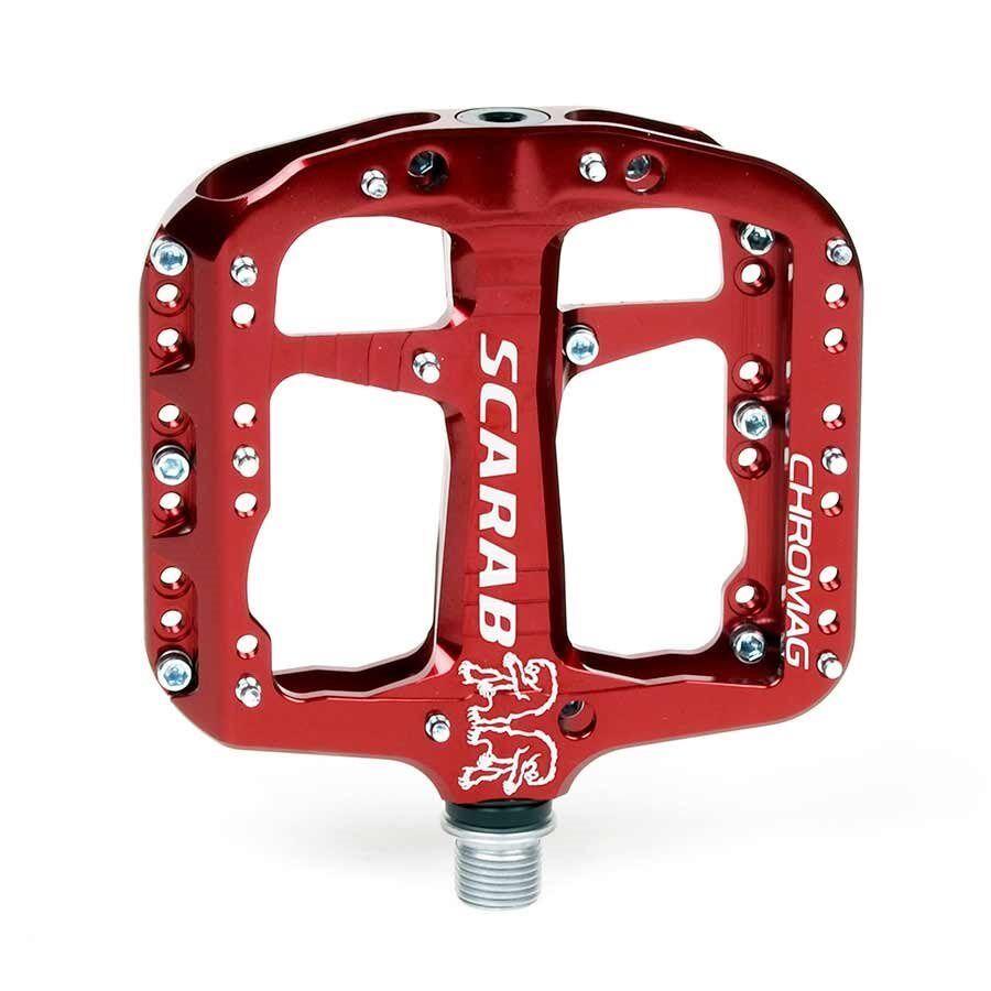 Chromag Scarab Platform pedals Bushing and sealed bearings Aluminium body Red