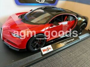 Maisto-1-18-Scale-Bugatti-Chiron-Sport-Red-Diecast-Model-Car