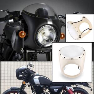 7-034-Motorrad-Scheinwerfer-Verkleidung-Universal-Lampenmaske-fuer-Harley-Cafe-Racer