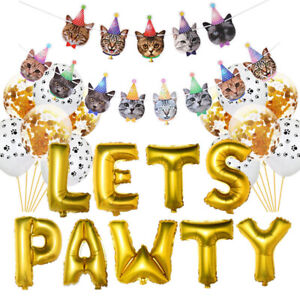 Pet-Dog-Birthday-Party-Supplies-Lets-Pawty-Print-Balloons-Banner-Paw-Pri-U