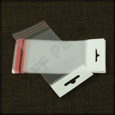 Euro Slot Header Bags 100.. 10cm x 10cm Peel /& Seal Retail Display Bags