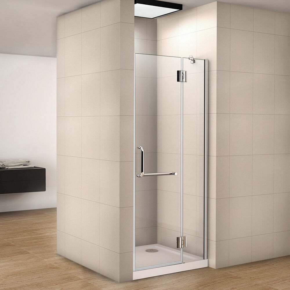 100x190cm Nischentür Dusche Duschabtrennung Duschtür Echtglas klar Glas HN-SE