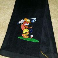 Woody Woodpecker Black Golf Towel