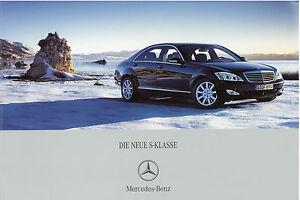 Mercedes-S-Klasse-Prospekt-2005-6-05-W-221-brochure-Autoprospekt-prospectus-Auto