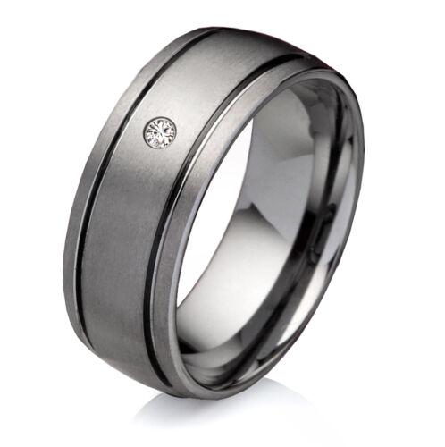 Antragsring Verlobungsring Tungsten mit Zirkonia Ringe Lasergravur W737