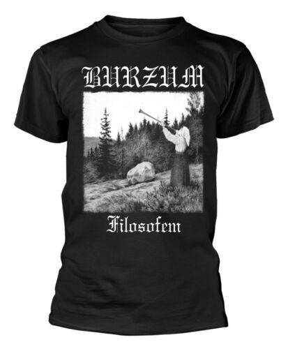 T-Shirt Black NEW /& OFFICIAL! B**zum /'Filosofem White Print /'