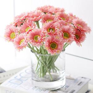 10pc diy fresh vivid artificial flower daisy fake silk flower for image is loading 10pc diy fresh vivid artificial flower daisy fake mightylinksfo