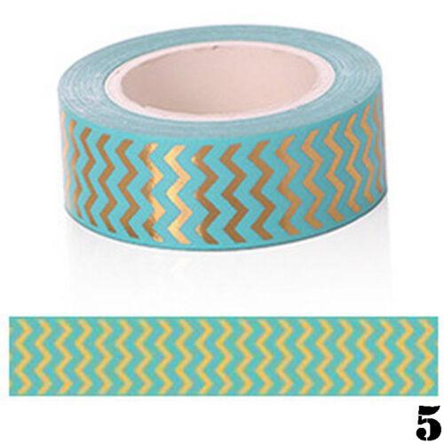 Gold Foil Washi Masking Tape Klebeband Klebebänder Papier Deko Aufkleber