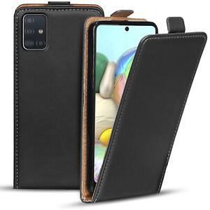 Flip-Cover-fuer-Samsung-Galaxy-A51-Huelle-Klapp-Huelle-Handy-Schutz-Tasche-Case