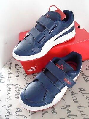 Puma Rebound v2 Lo Kinder Sneaker Schuhe Halbschuhe Klettverschluss Größe 32 Neu