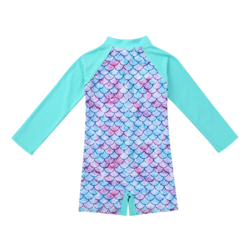 Baby Toddler Girl One Piece Swimsuit Rash Guard Sun Protection Beachwear Tankini