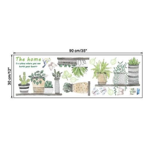 Removable Plant Flower Stickers Home Art Decal Wall Garden Kitchen Bedroom