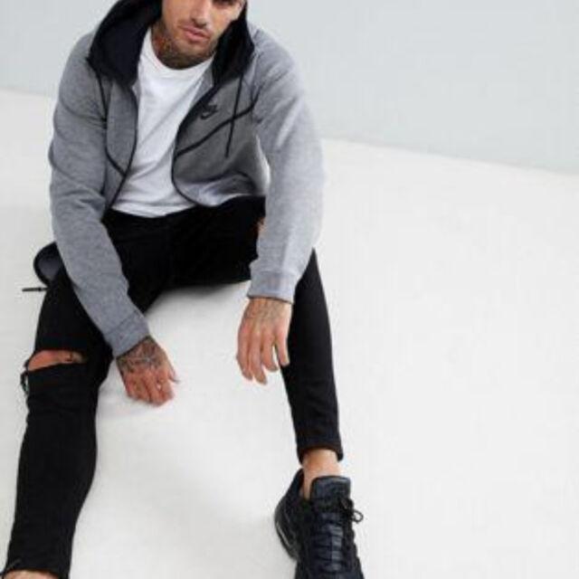 Felpa con cappuccio Nike – Sportswear Tech Fleece Windrunner Grigionero 805144 L (large)