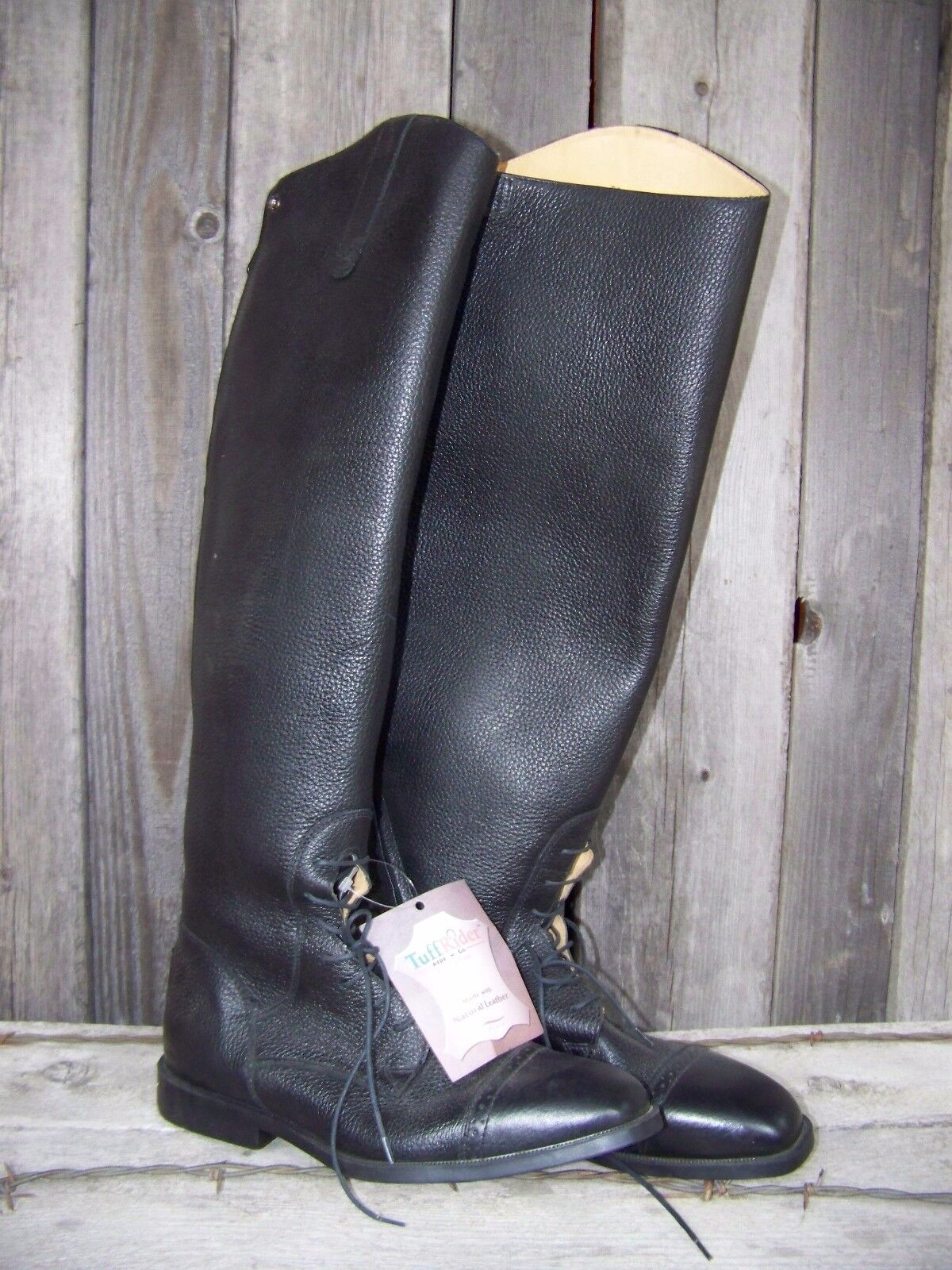 Field Boots (Pebbled Grain) with Slide Zip - TuffRider for Women (Size 11.0S)