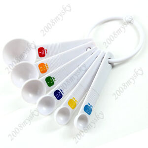 Kitchen tool white measuring spoons spoon cup baking for Kitchen tool set of 6pcs sj