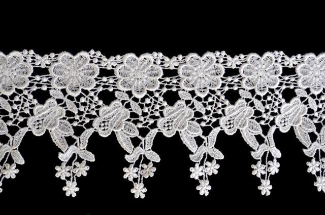 "Unotrim 4.5"" White Venise Vintage Victorian Floral Flower Lace Trim By Yardage"