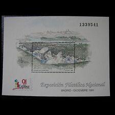 ESPAÑA 1991 HOJITA EDIFIL 3145 EXFILNA ´91