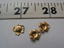 3188 Doll Dreams Tiny Flowers CHARMS Brass 24 Pcs CLOSE OUTS