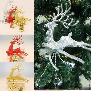 Cute leaping deer reindeer christmas tree decor hot xmas for Home decor reindeer christmas figurine set