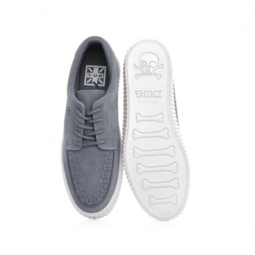 T.U.K A9257 New Rare Men Shoes Grey Suede Gum Sole Creeper Sneaker Skater