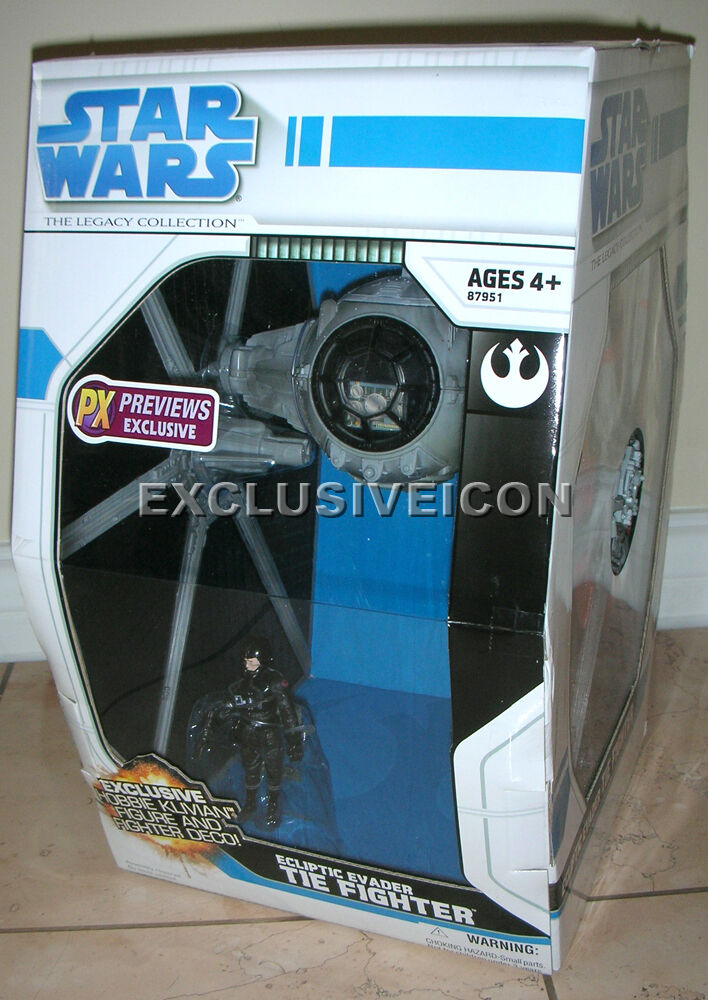 Star Wars 2008 The Legacy Collection Ecliptic Evader TIE Fighter Previews Ex CAN