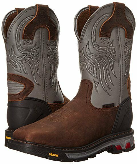Justin Work WK2102 Commander-X5 Mens 11  Waterproof Steel Toe Met-Guard Boot