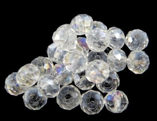25 checa cristal perlas abalorios 6mm crystall a partir de rondell x206