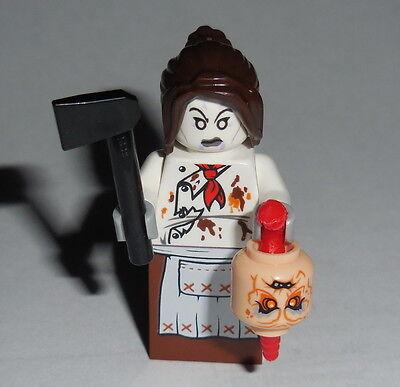 HALLOWEEN #25 Lego Female Demonic-Possessed Chef w/acc's Custom NEW