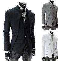 New Mens Blazer Jacket Adults Fashion Design Slim-Fit Blazers Coat