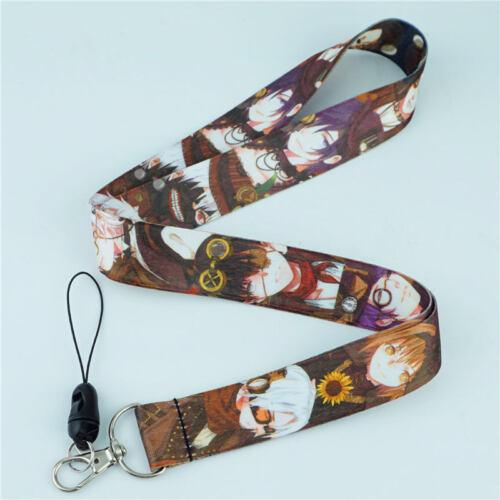 Anime Cartoon Game Lanyard Neck Strap Cell Phone Rope KeyChain ID Card Otaku MKI