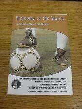 18/04/2012 Thurrock Sunday League Ted Fairchild League Cup Final: Legends v Cors